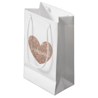 Gift Bag - Heart Fab bridesmaid Rose Gold