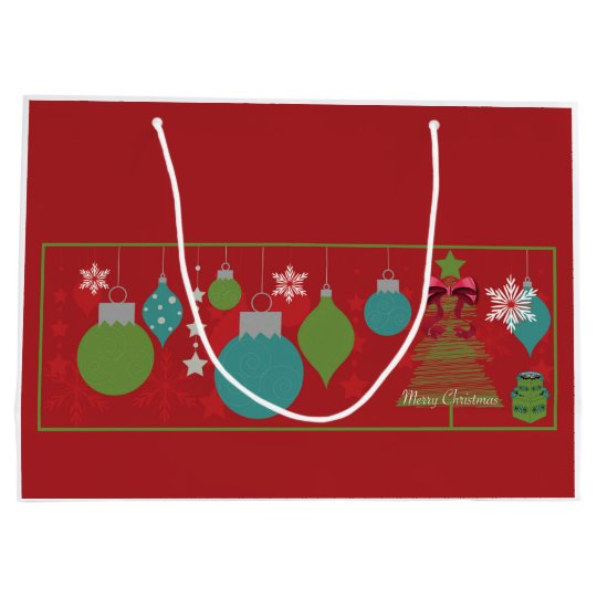 Gift Bag - Large Christmas Ornament graphics