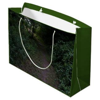 Gift Bag - Large PHOTOGRAPH OF WOODED PATH