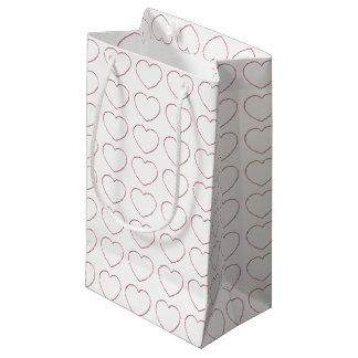 Gift Bag - Wire Frame Hearts