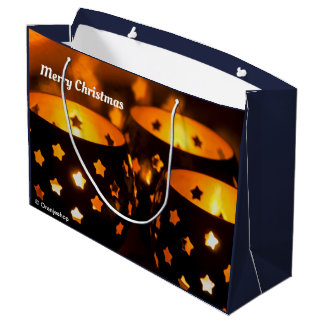 Gift Bag with Christmas Candlelights