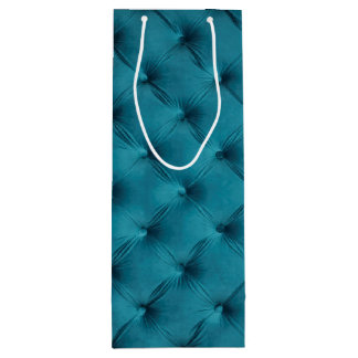 Gift bag with teal, blue capitone