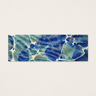 Gift Book Blue Batik Marble Bookmark Mini Business Card