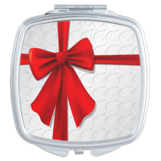 Gift Bow Compact Mirror