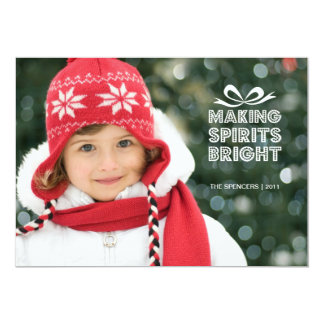 Gift Box Christmas Photo Holiday Card