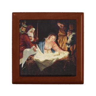 GIFT BOX - Santa Claus adores Baby Jesus