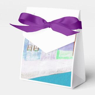 Gift Box with Caribbean Scene