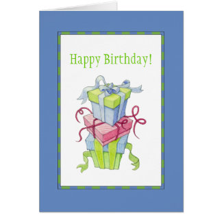 Gift Boxes Birthday Card