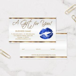 Gift Certificate  Blue Lipstick Business