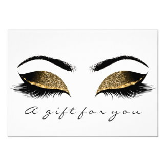 Gift Certificate Browns Gold Lashes White Makeup Card