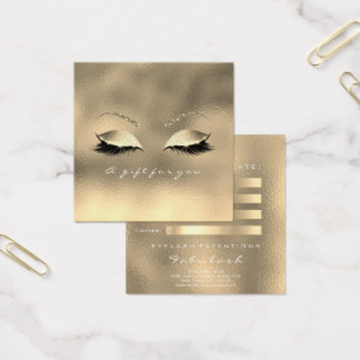 Gift Certificate Glass Metallic Gold Lashes Makeup