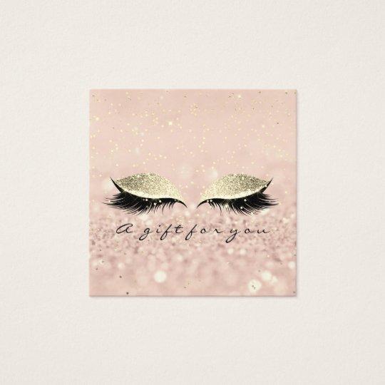 Gift Certificate Gold Glitter Lashes Makeup Artist
