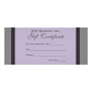 Gift Certificate grey black stripes