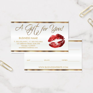 Gift Certificate Red Lipstick Business