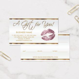 Gift Certificate Rose Lipstick Business