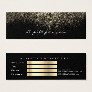 Gift Certificate Sepia Gold Lashes Makeup
