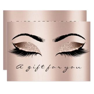 Gift Certificate Skinn Lux Gold Lash Beauty Makeup Card