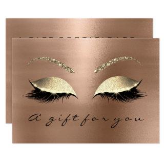 Gift Certificate Skinn Lux Gold Lash Beauty Studio Card