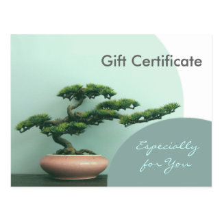 Gift Certificate Template-Flat-Bonsai Circles Postcard