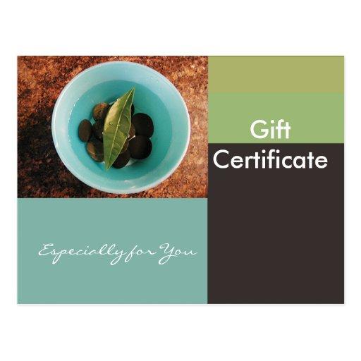Gift certificate template flat geometric bowl postcard zazzle for Zazzle gift certificate