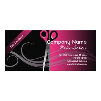 Gift Certificate trendy black & pink design
