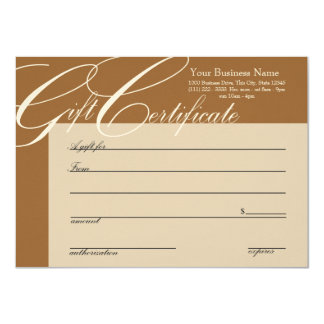"""Gift Certificate with Color Change 4.5"""" X 6.25"""" Invitation Card"""