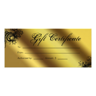 Gift Certificates Salon Spa Gold Floral Butterfly