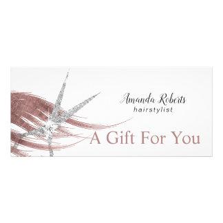 Gift Certificates Silver Scissor Rose Gold Hair
