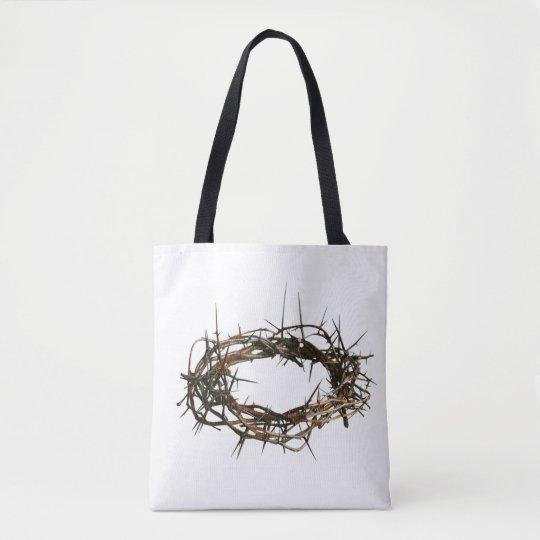 Gift christian white bag crown of thorns