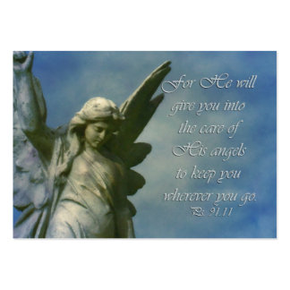 gift enclosure card  Ps 91:11 Angel encouragement Business Card Template