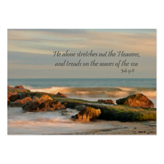 gift enclosure card  Seascape with waves and rocks Business Card Templates