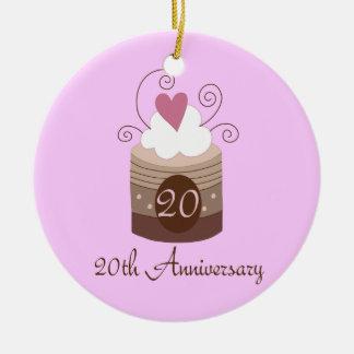 Gift For 20th Wedding Cute Cupcake Ceramic Ornament