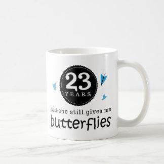 Gift For 23rd Wedding Anniversary Butterfly Coffee Mug