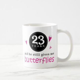 Gift For 23rd Wedding Anniversary Butterfly Coffee Mug