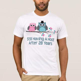Gift For 28th Wedding Anniversary Hoot T-Shirt
