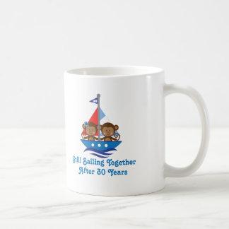 Gift For 30th Wedding Anniversary Monkeys Basic White Mug
