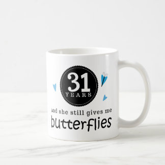 Gift For 31st Wedding Anniversary Butterfly Coffee Mug