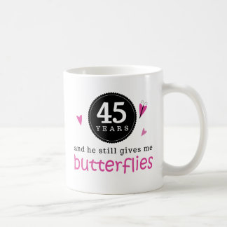 Wedding Gifts For 45th Anniversary : Gift For 45th Wedding Anniversary Butterfly Coffee Mug