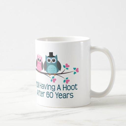 Gift For 60th Wedding Anniversary Hoot Coffee Mugs