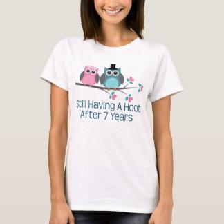 Gift For 7th Wedding Anniversary Hoot T-Shirt