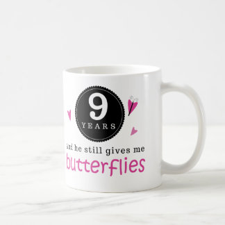 Gift For 9th Wedding Anniversary Butterfly Coffee Mug