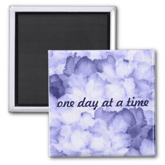 Gift for AA purple magnent One day at a time Square Magnet