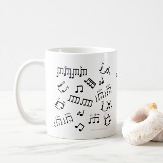 Gift for Drummer Coffee Mug Drums Musical Notes