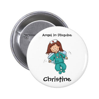 Gift for Nurse - Personalize with Name 2 Inch Round Button