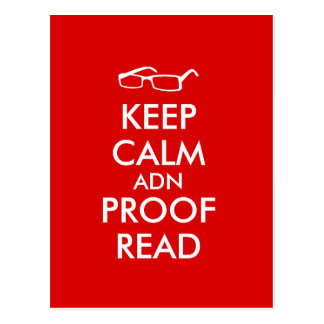 Gift for Writers Keep Calm and Proofread Postcard