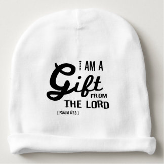 Gift from the Lord, Black Font Baby Beanie