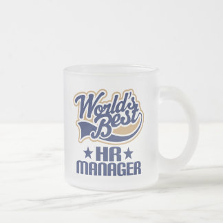 Gift Idea For Hr Manager (Worlds Best) Frosted Glass Coffee Mug