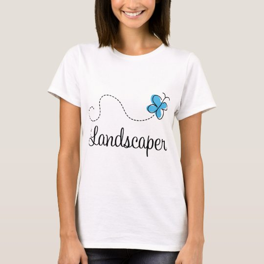 Gift Idea For Landscaper (Butterfly) T-Shirt