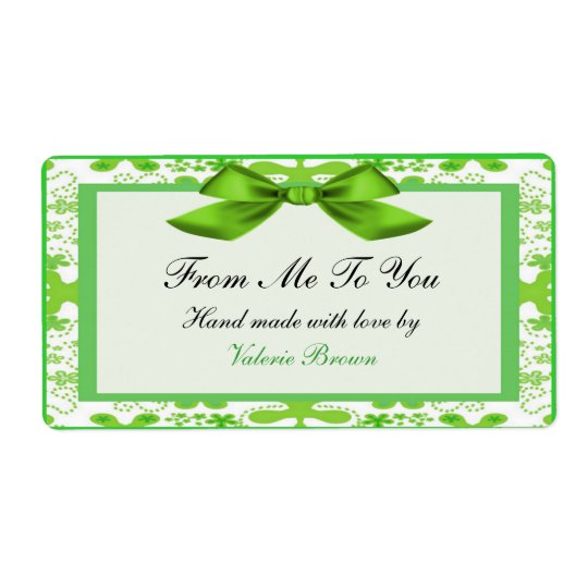 Gift label shipping label