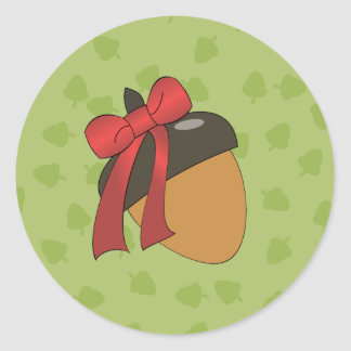Gift Nut Classic Round Sticker